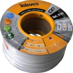 Kabel koncentryczny TELEVES, miedź, 100m